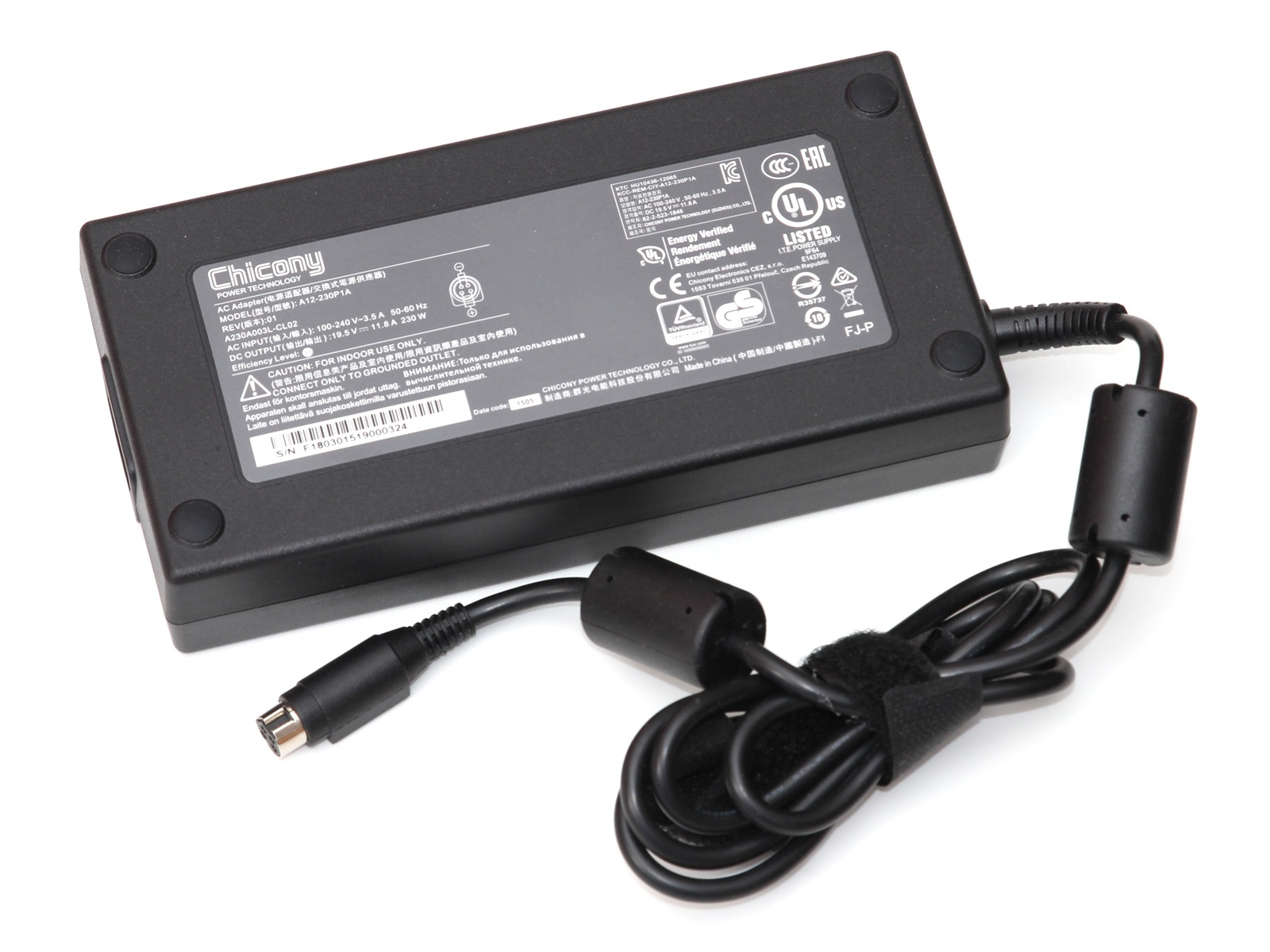Original 230W Chicony A12-230P1A A230A003L Adapter Charger