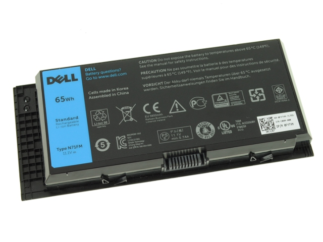 Original 65Wh Battery Dell R7PND RY6WH