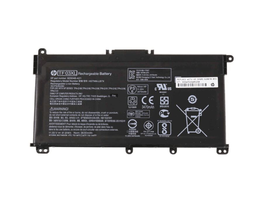 Original 3630mAh 41.9Wh HP 17-AR050WM Battery