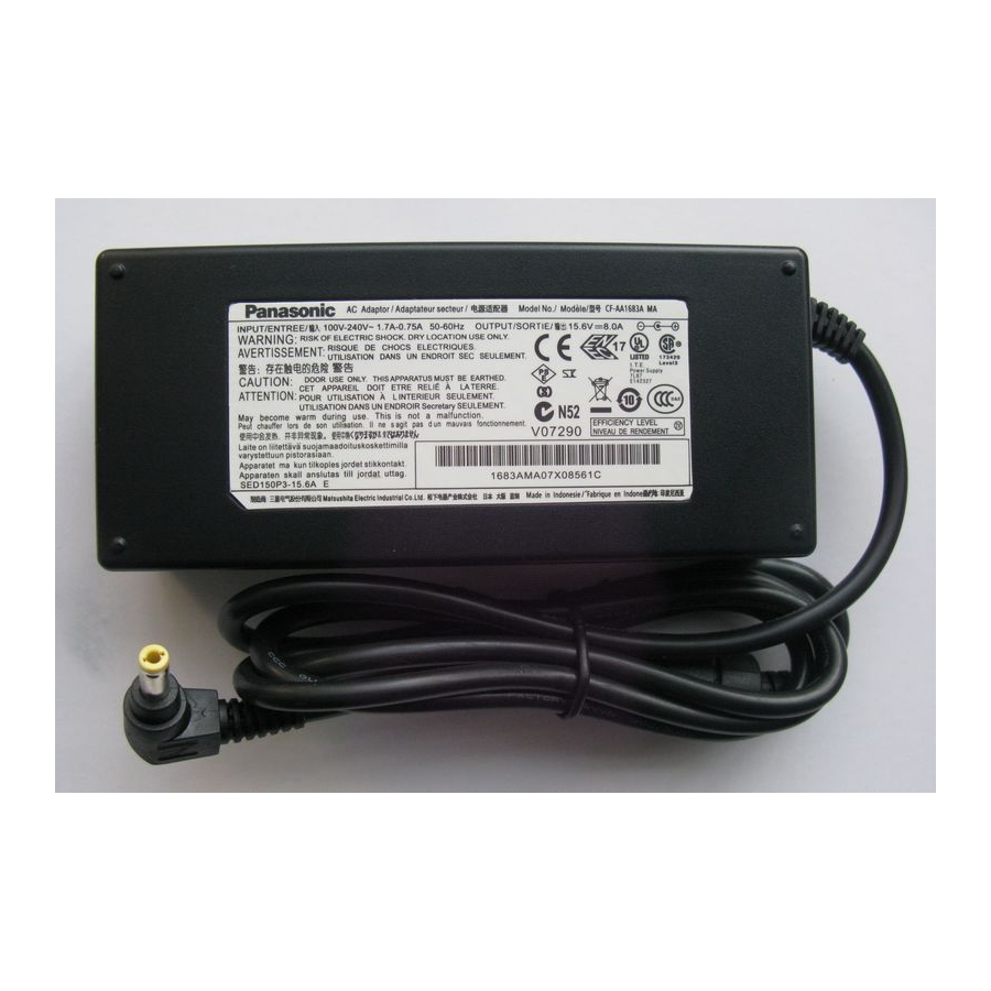 Original 125W Panasonic ToughBook CF-52GCMBVAE Adapter Charger