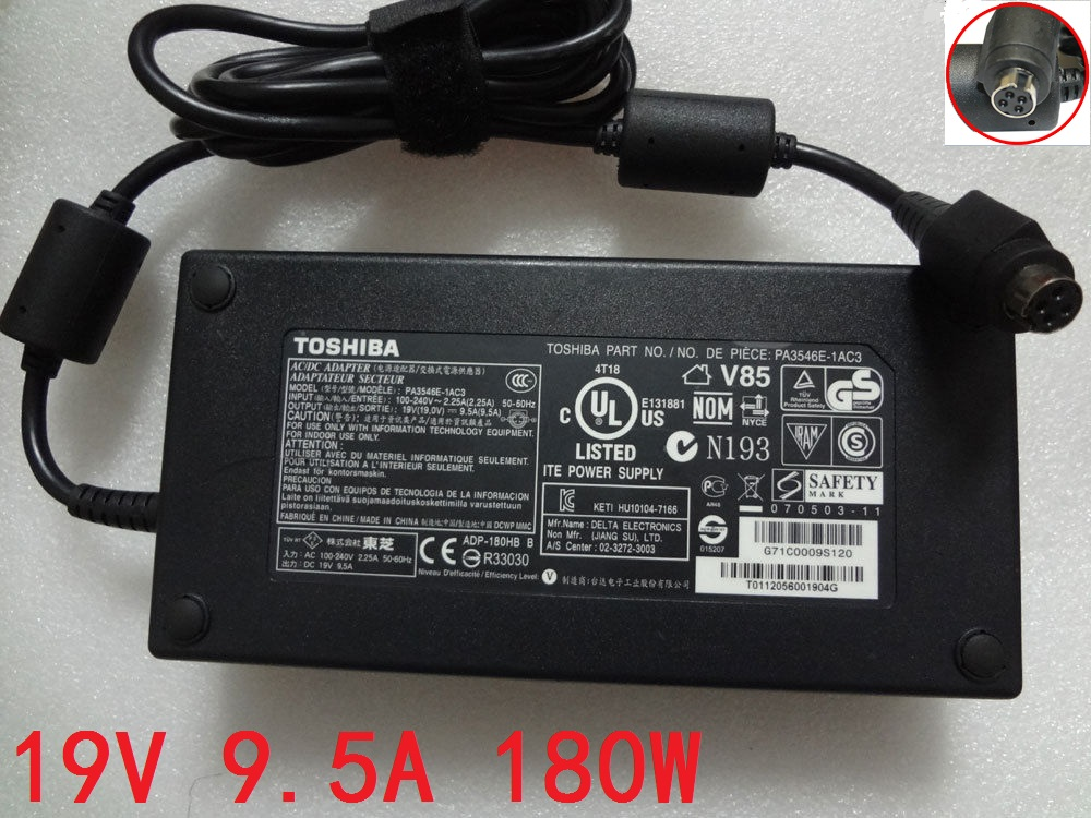 Original 180W Toshiba G71C0009S120 G71C0009S120 Adapter Charger