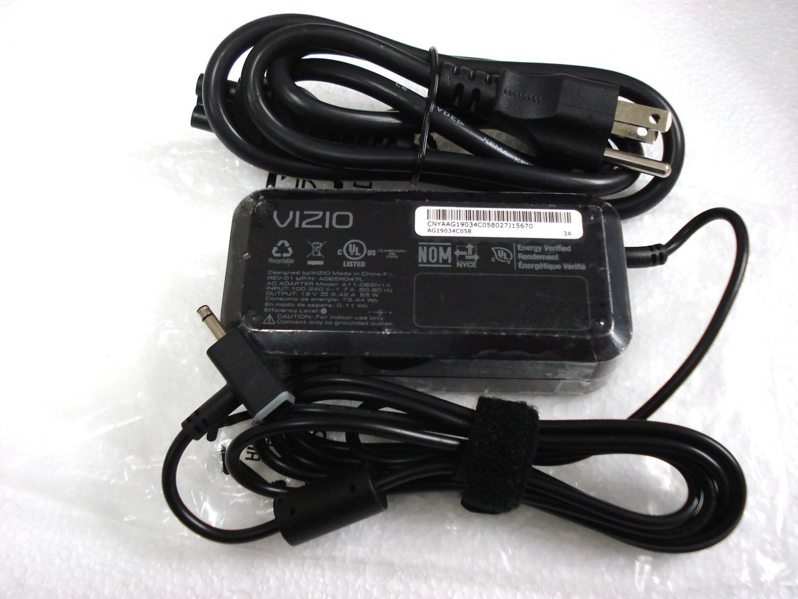 Vizio 65W CT14-A1 CN15-A2 Ultrabook AC Adapter Charger